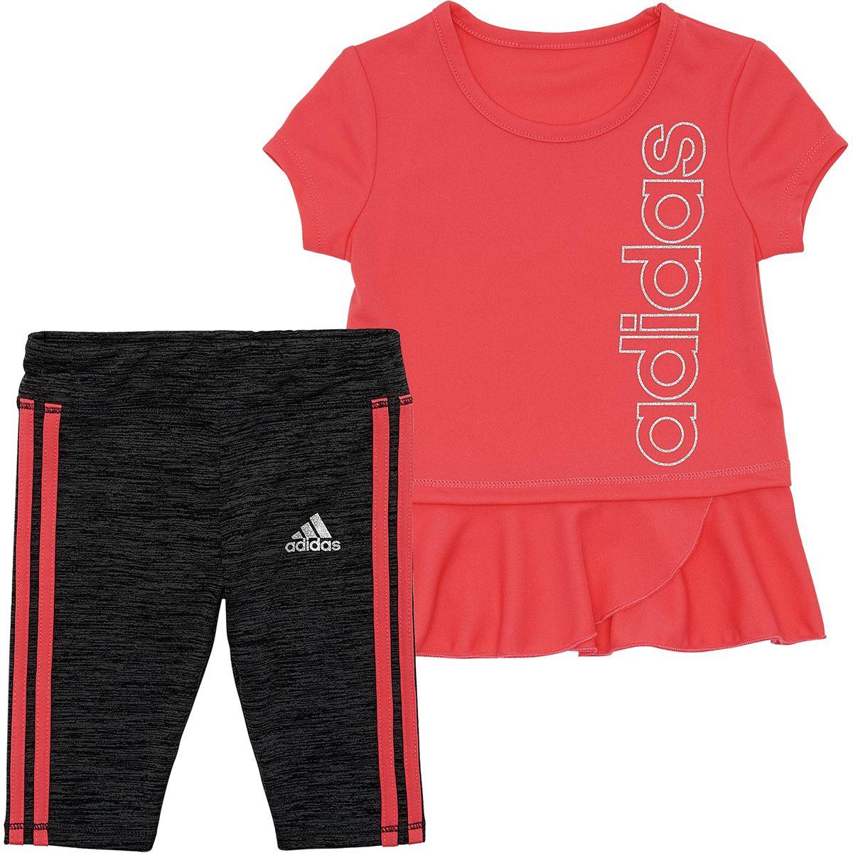 Adidas 3 Stripe Capri Tight Set Infant Girls