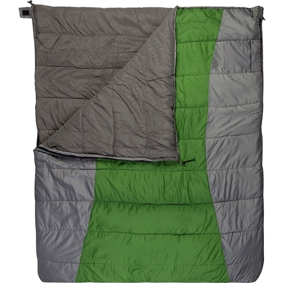 ALPS Mountaineering Double Wide Sleeping Bag: 20 Degree Synthetic Green/Grey, Double