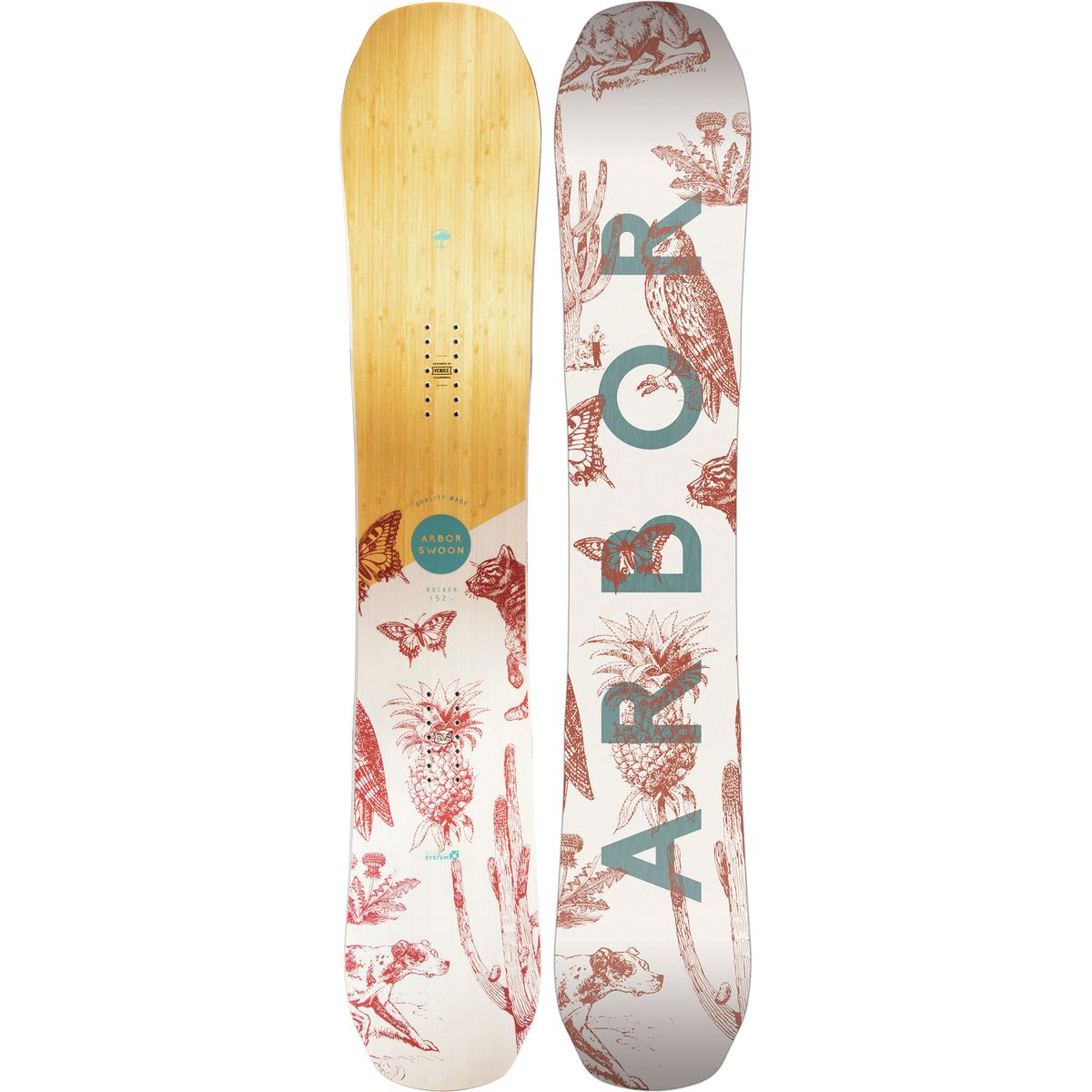 Arbor Swoon System Rocker Snowboard Womens
