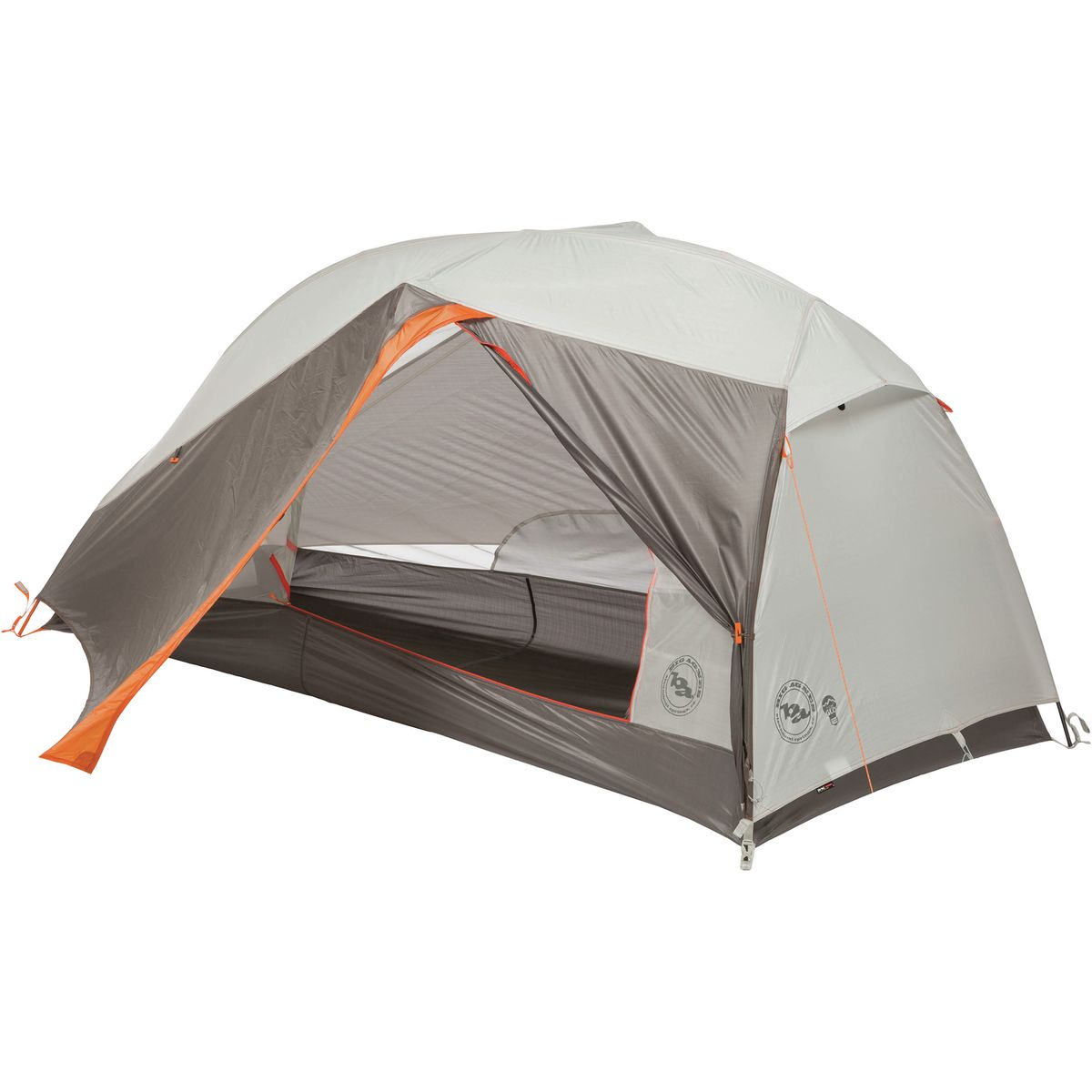 Big Agnes Copper Spur HV UL 1 mtnGLO Tent: 1-Person 3-Season Silver/Gray, One Size