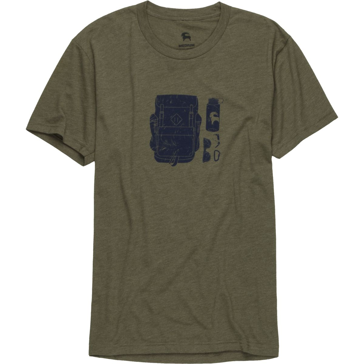 Backcountry Backcountry Artist T Shirt  Michael Van Voorhis  Mens Military Green L