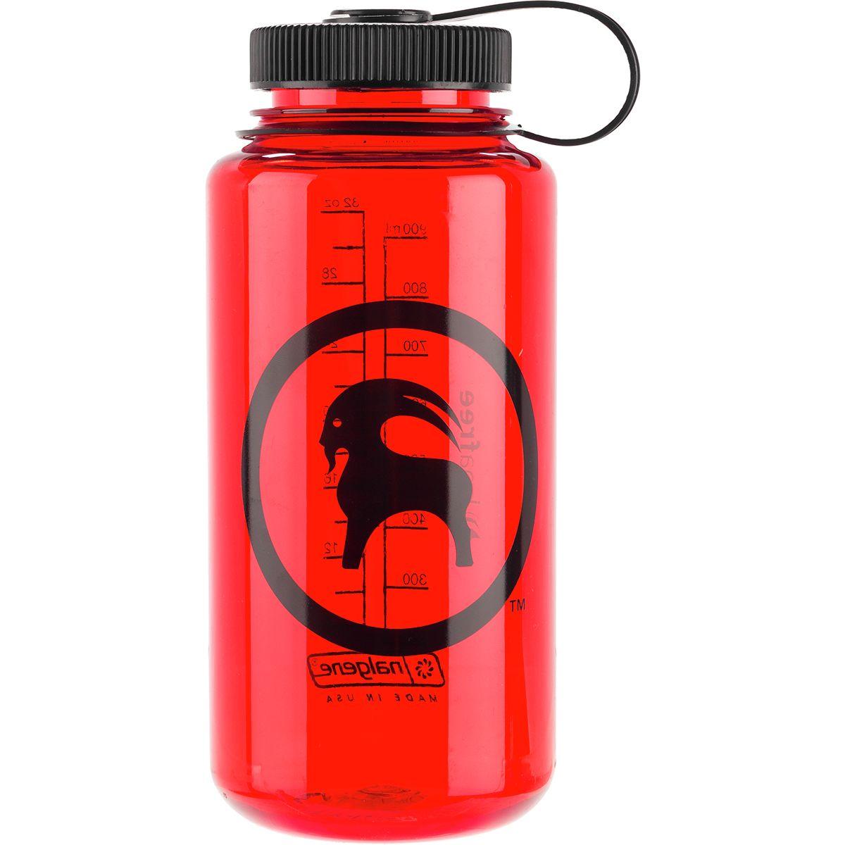 Backcountry x Nalgene Goat Logo Wide Mouth Tritan Bottle Red/Black/Black, One Size