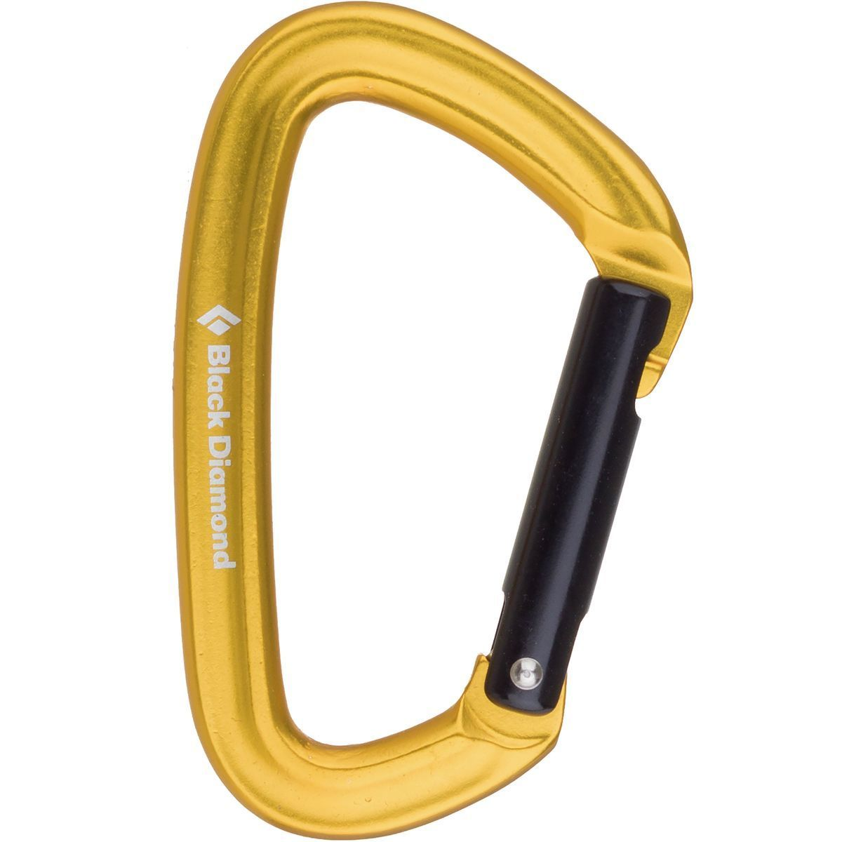 Black Diamond Positron Carabiner Yellow, Straight, One Size