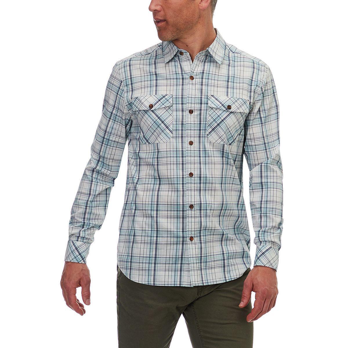 Basin And Range Kings Peak Plaid Long Sleeve Shirt Mens