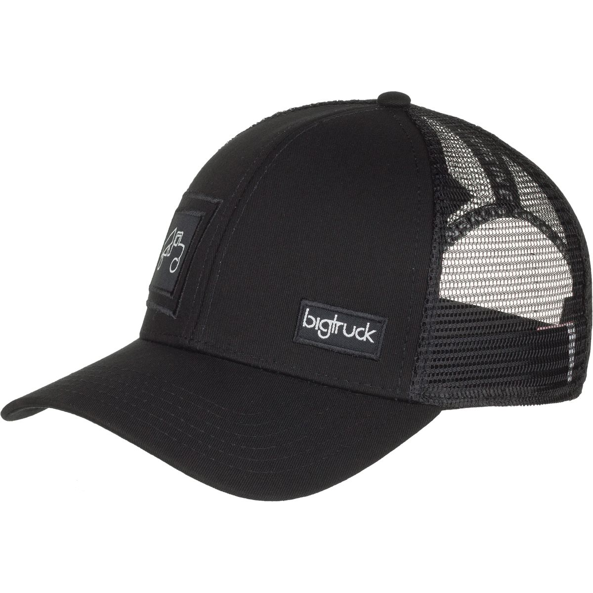 Bigtruck Brand Classic Trucker Hat Black Black One Size