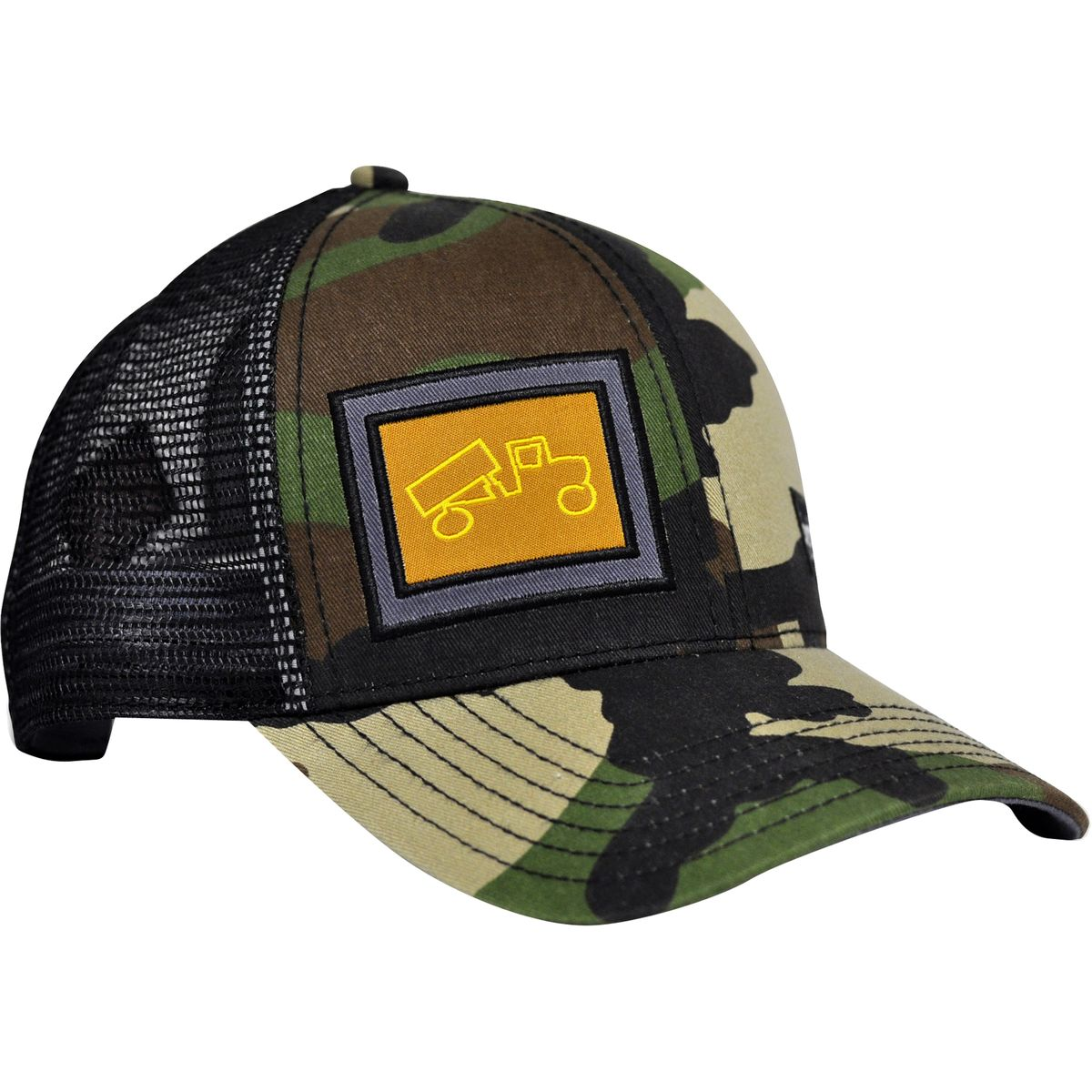 Bigtruck Brand Classic Trucker Hat Camo Black One Size