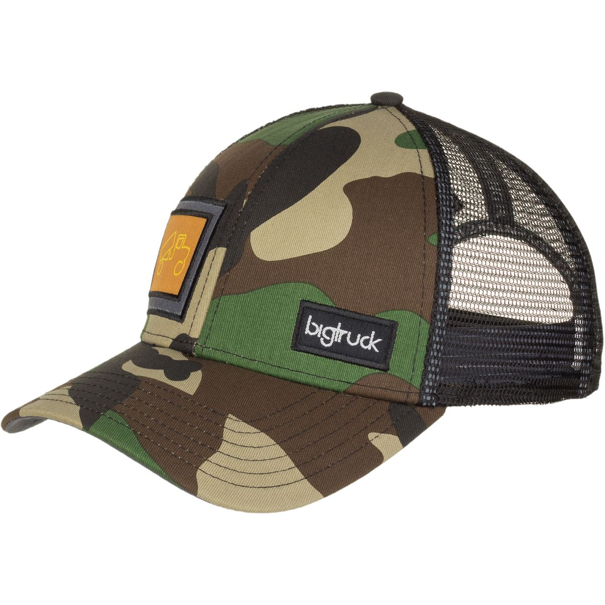 Bigtruck Brand Classic Trucker Hat Camo Grey One Size