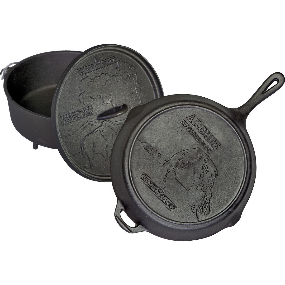 Camp Chef National Parks Cast Iron Set One Color, One Size