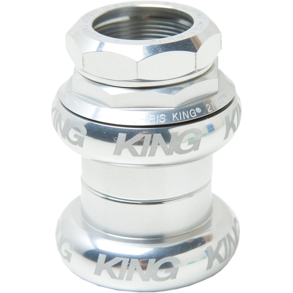 Chris King 2Nut Threadset Headset  1in Sotto Voce Silver 1in