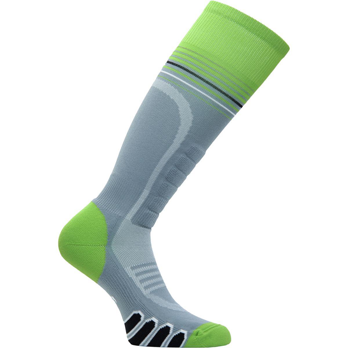 EURO Socks Silver Supreme Ski Sock - Men's Grey/Acid, M