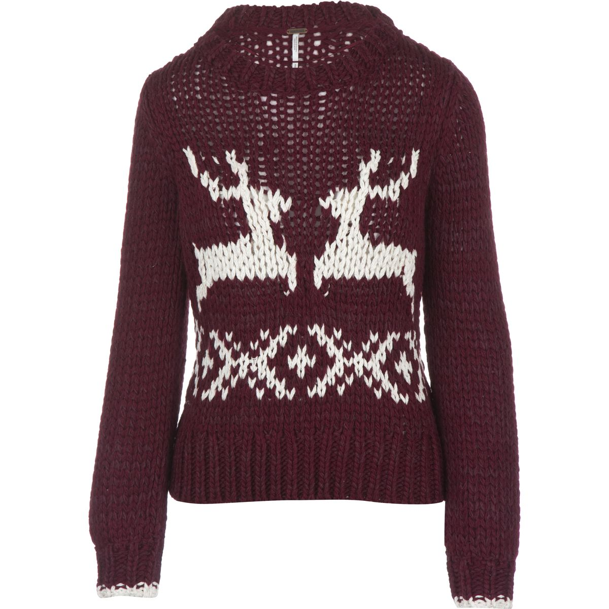 Free People Dancer & Prancer Pullover Sweater - Women