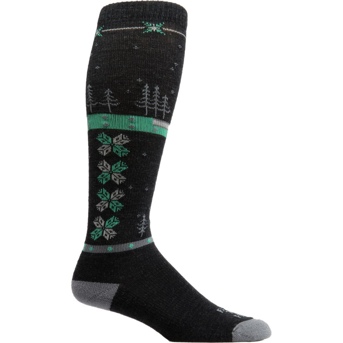 Farm To Feet Anchorage Lightweight Socks  Womens Charcoal Platinum L