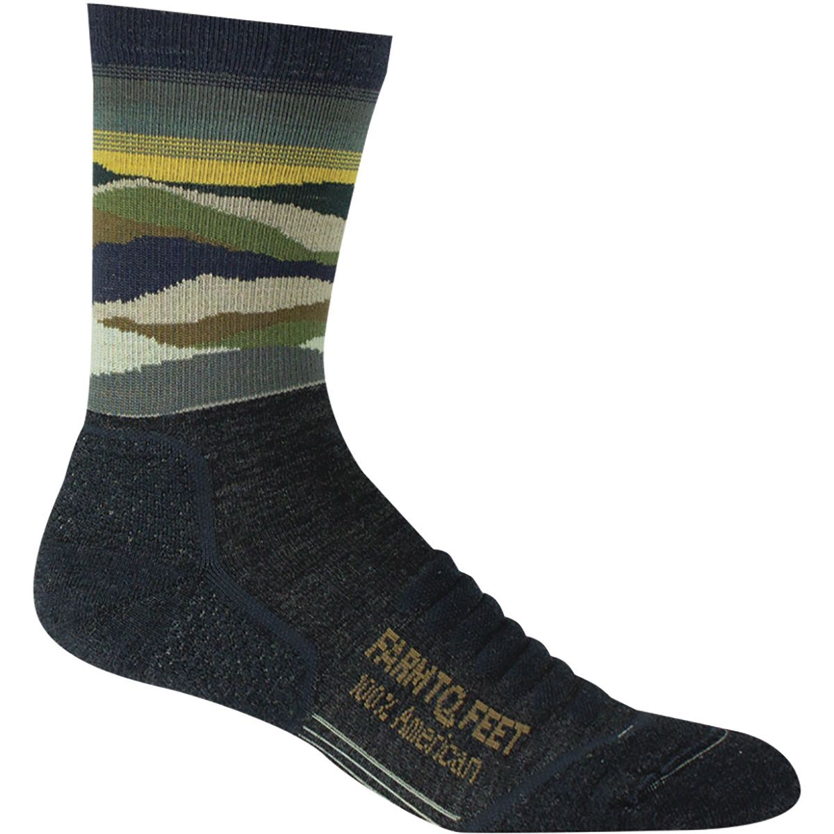 Farm To Feet Max Patch Mountain 3/4 Technical Crew Sock - Men's Charcoal, L FTF002B-CH-L