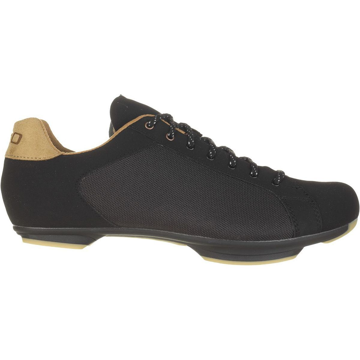 c59c12e11dd Giro New Road Republic Shoes Black Canvas Gum 440
