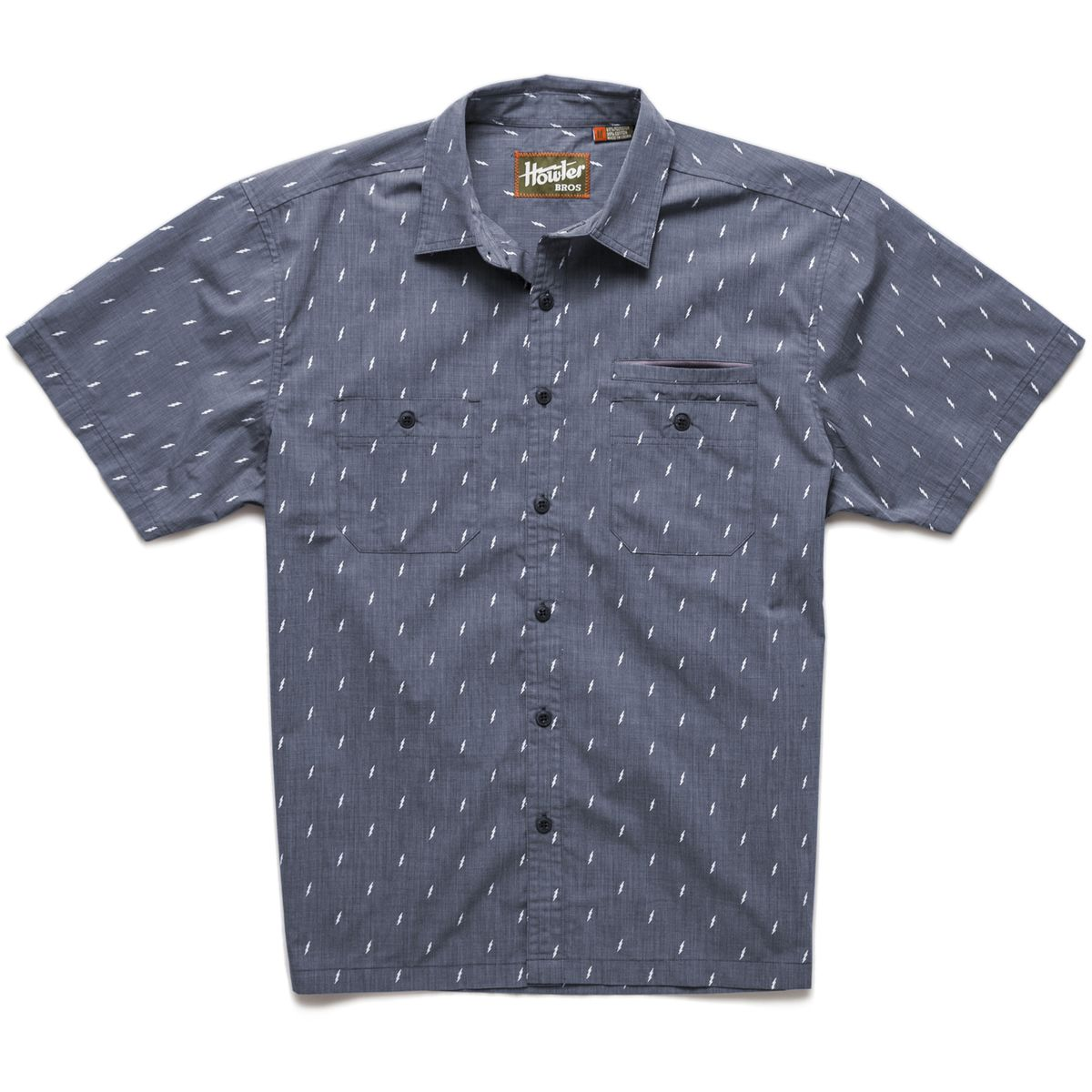 Howler Bros Aransas Shirt  Short Sleeve  Mens Blue Bolt S