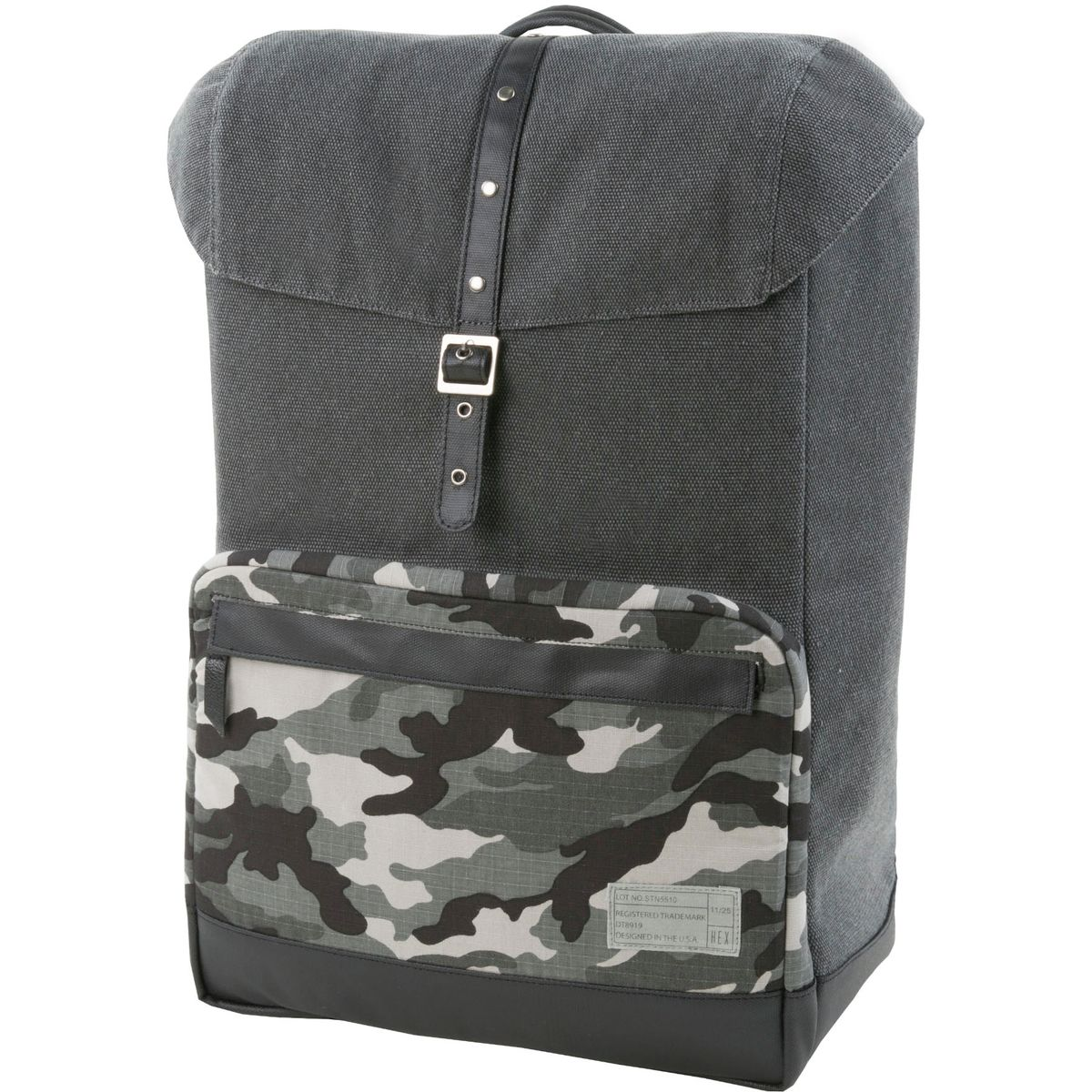 Hex Coast Laptop Backpack Stinson Grey Camo One Size