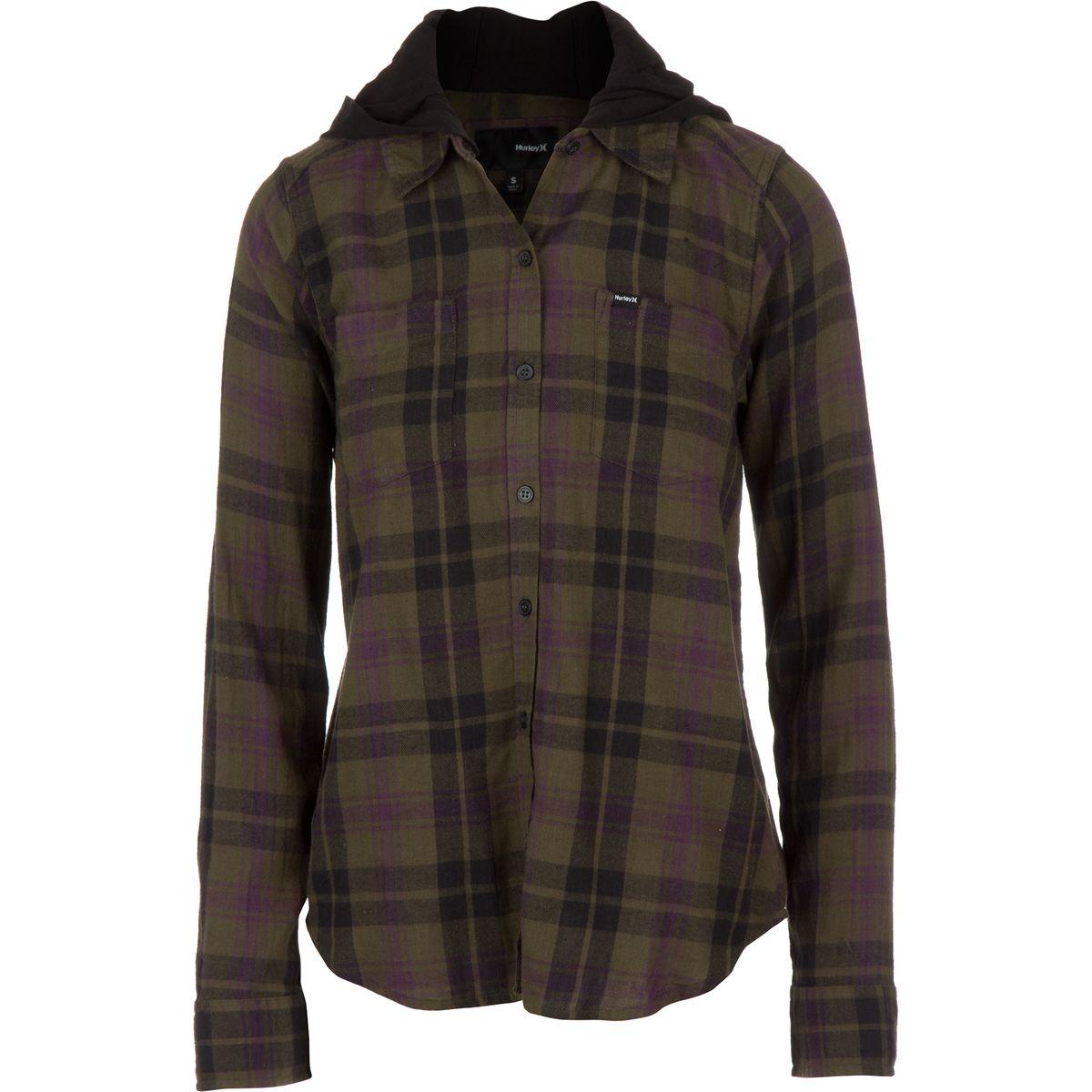 Hurley Wilson Hooded Shirt - Long-Sleeve - Women