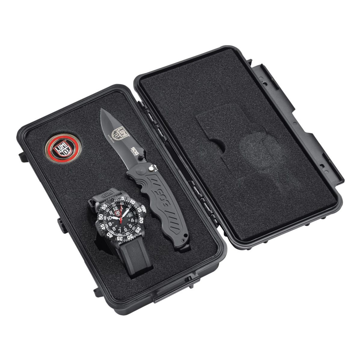 Luminox 25th Anniversary 44mm Watch and SOG Knife Set