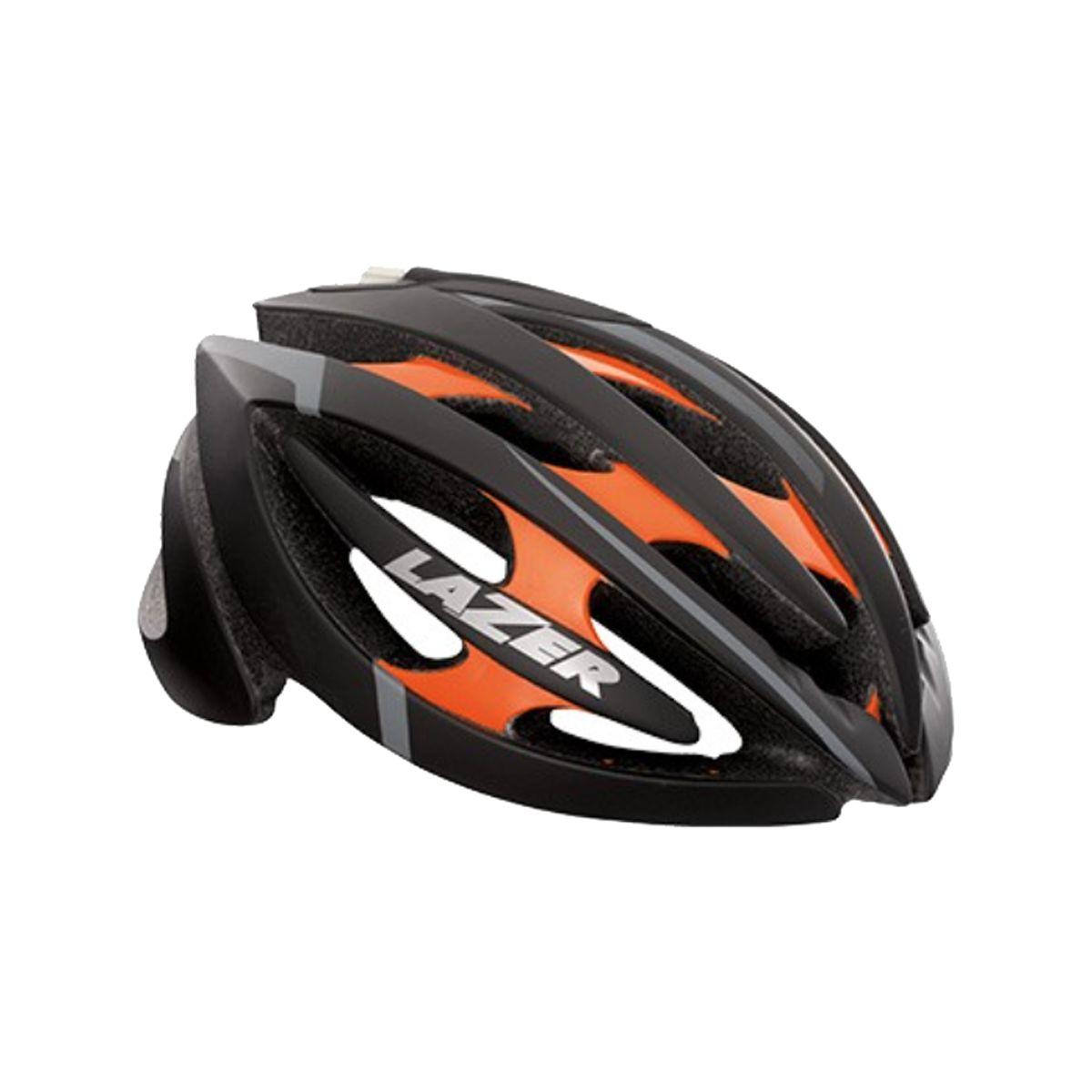 Lazer Genesis Helmet Black Flash Orange L