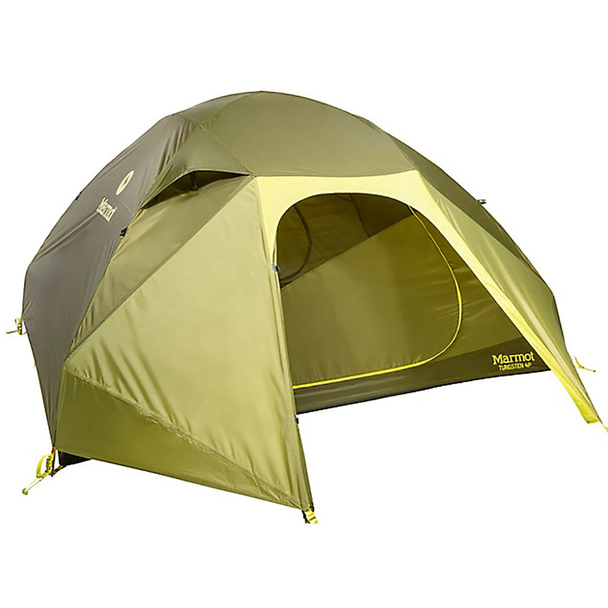 Marmot Tungsten Tent: 4-Person 3-Season Green Shadow/Moss, One Size