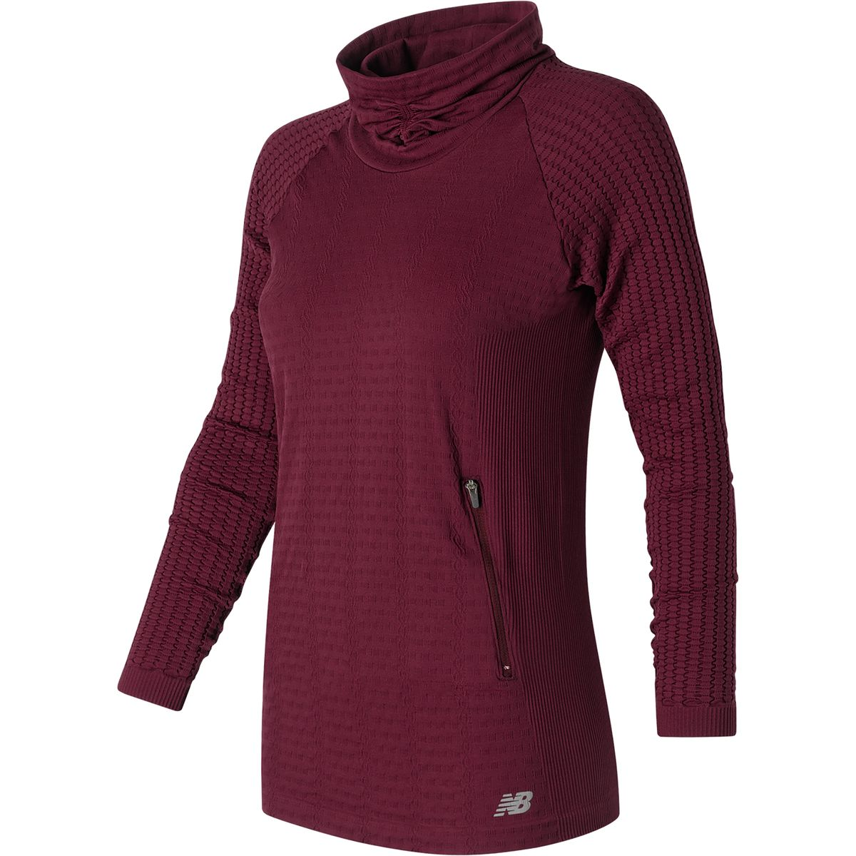 New Balance M4M Seamless Cable Pullover - Long-Sleeve - Women