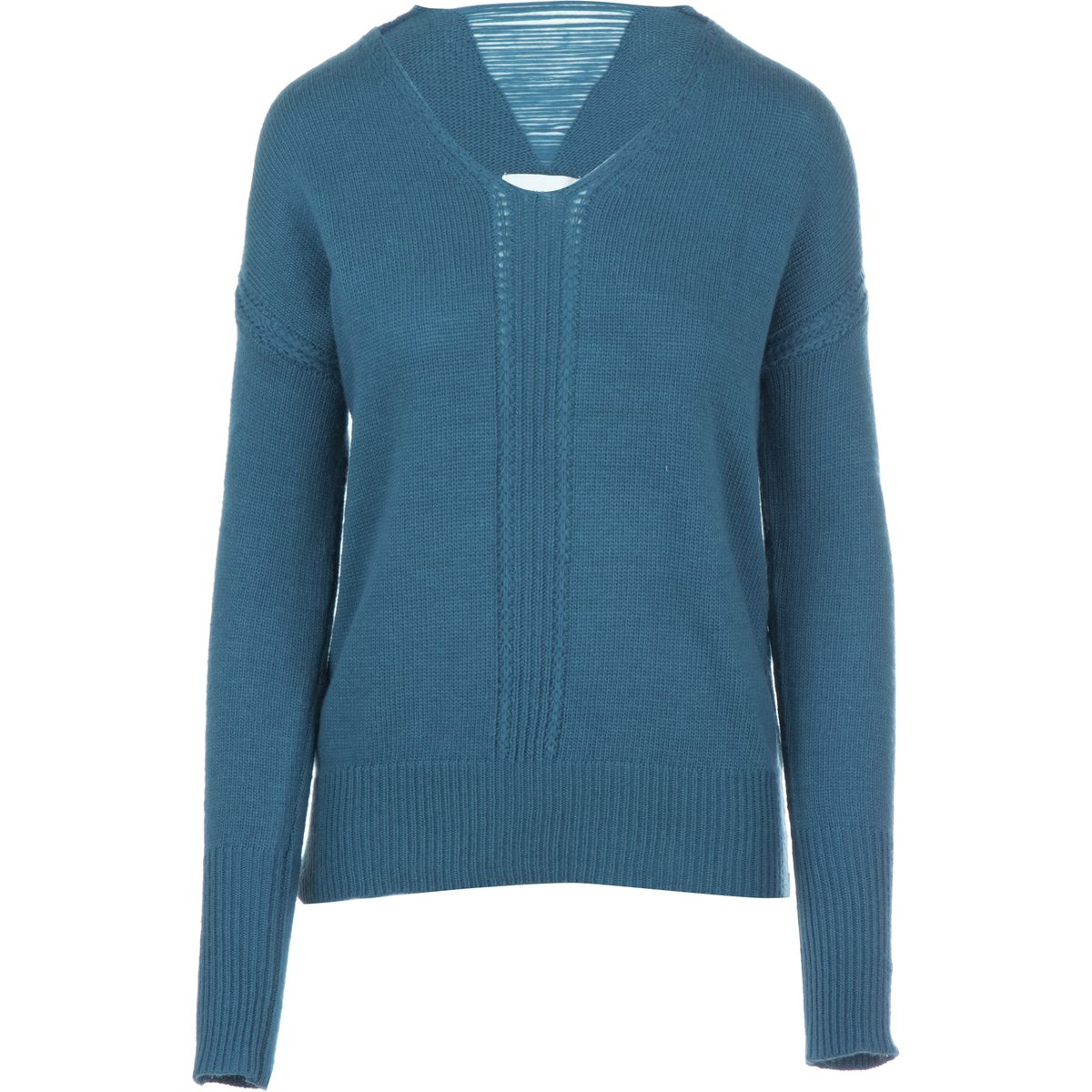 Olive and Oak Back Weave Sweater  Womens Emerald Coast XS