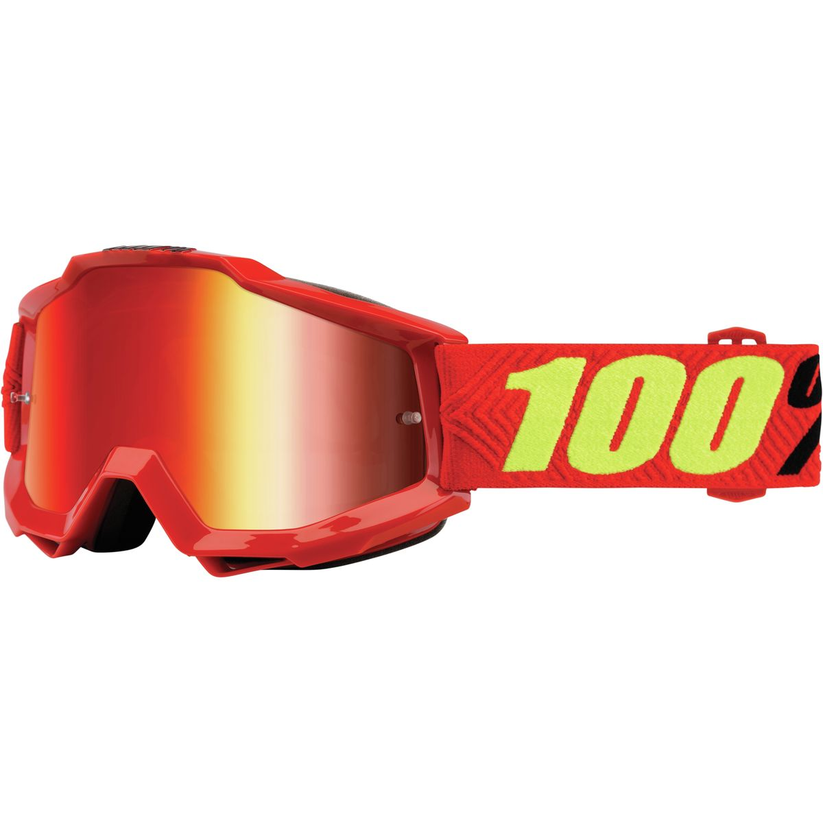 100 ACCURI Goggles Saarinen Mirror Red Lens One Size