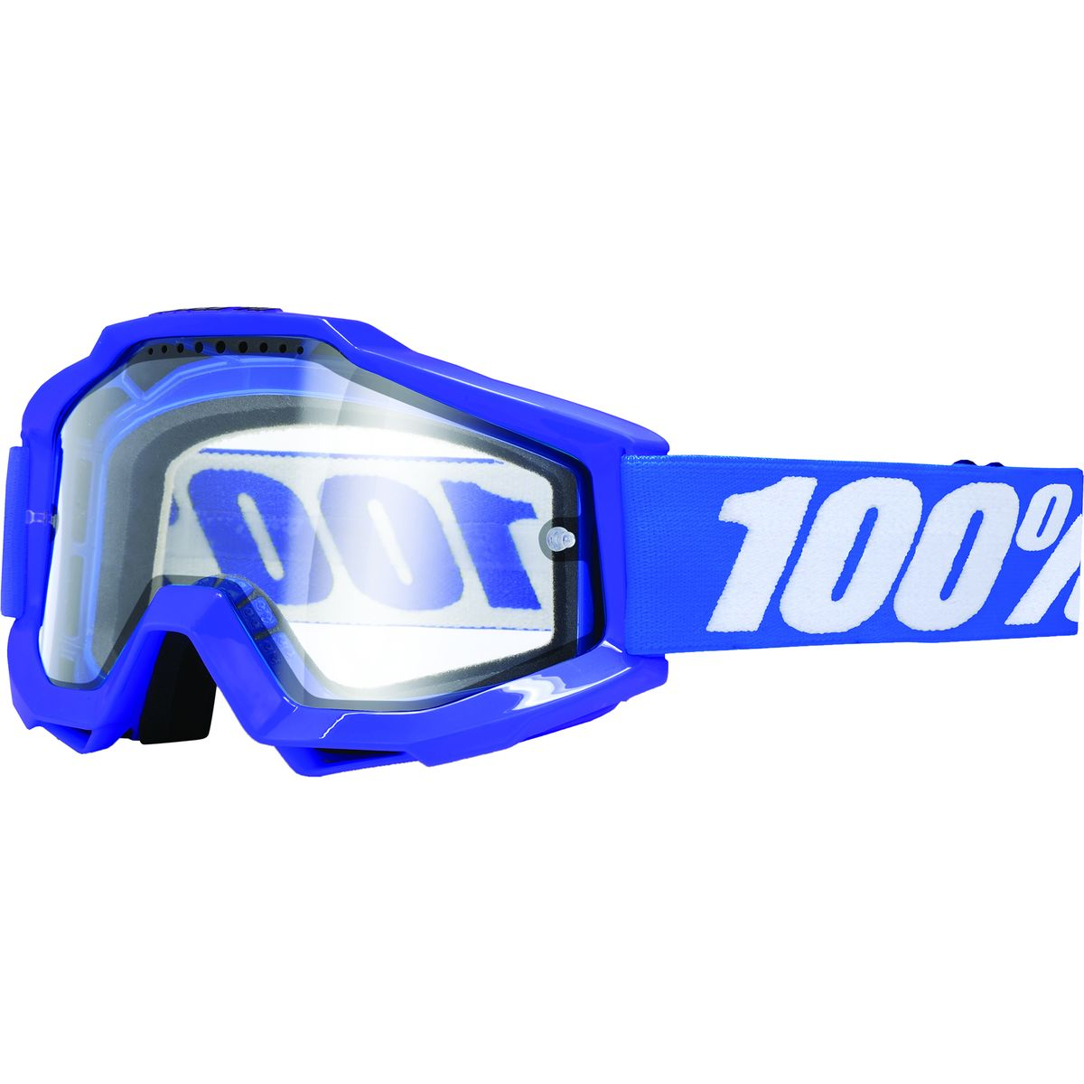100 ACCURI Enduro Goggles Reflex Blue Clear Dual Lens One Size