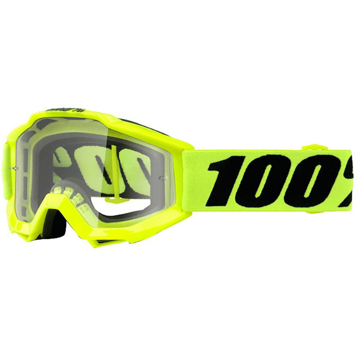 100 ACCURI Youth Goggles Fluo Yellow Clear Lens One Size