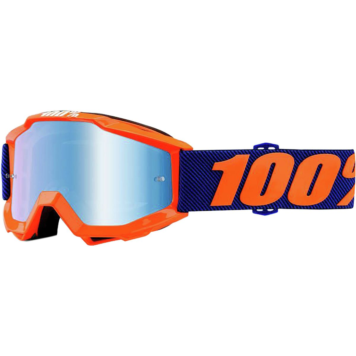 100 ACCURI Youth Goggles Origami Mirror Blue Lens One Size