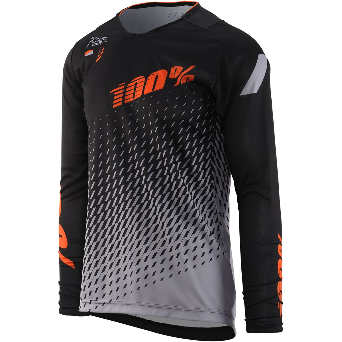 100 R Core DH Jersey Mens Supra BlackGray M