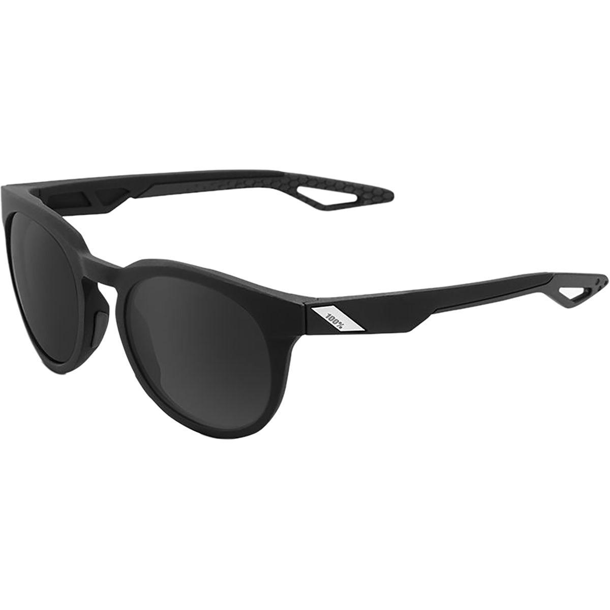 100 Campo Sunglasses Matte Black Smoke Lens One Size