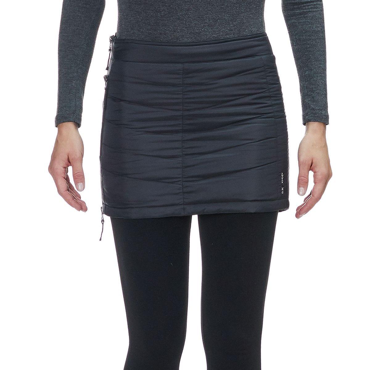 SKHOOP Mini Down Skirt - Women's Black, L OOP0001-BK-L
