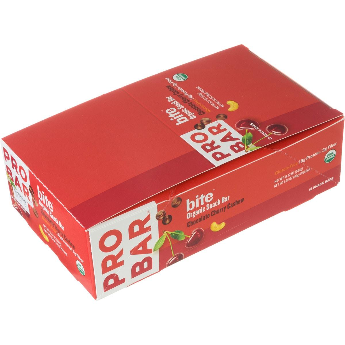 ProBar Bite Bar  12 Pack Chocolate Cherry Cashew One Size