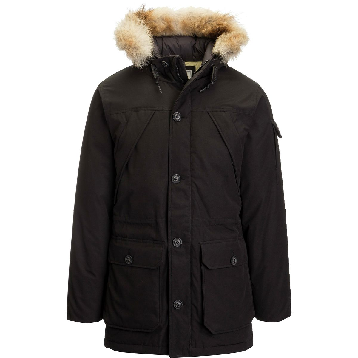 Penfield Hoosac Real Fur Hooded Down Mountain Parka - Men