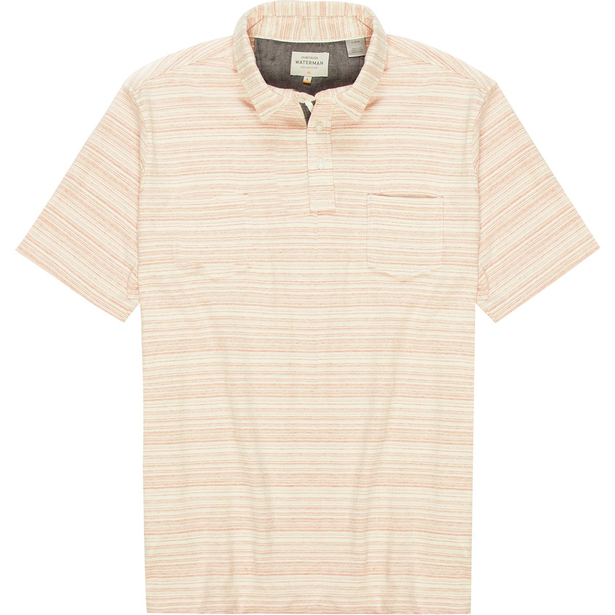 Quiksilver Waterman Sand Dollar Short-Sleeve Polo - Men's Dusty Coral Sand Dollar, S