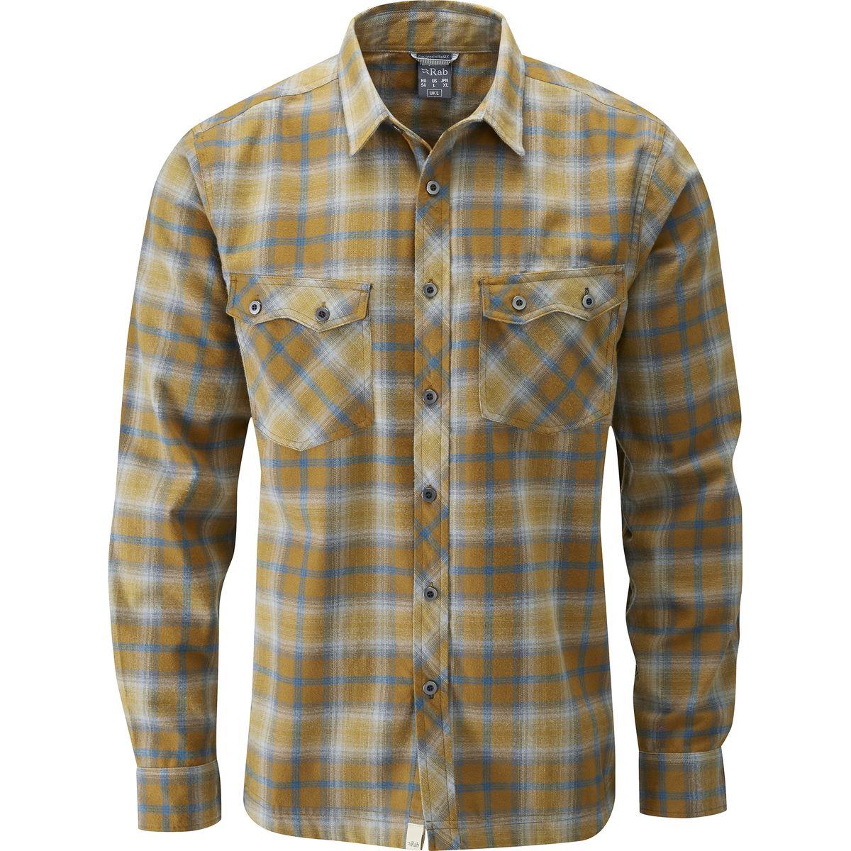 Rab cascade flannel shirt long sleeve men 39 s for Mens long sleeve flannel shirts
