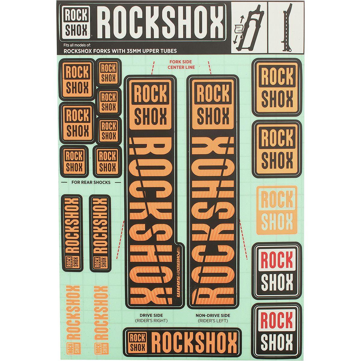 35mm RockShox Decal Kit Stealth Black