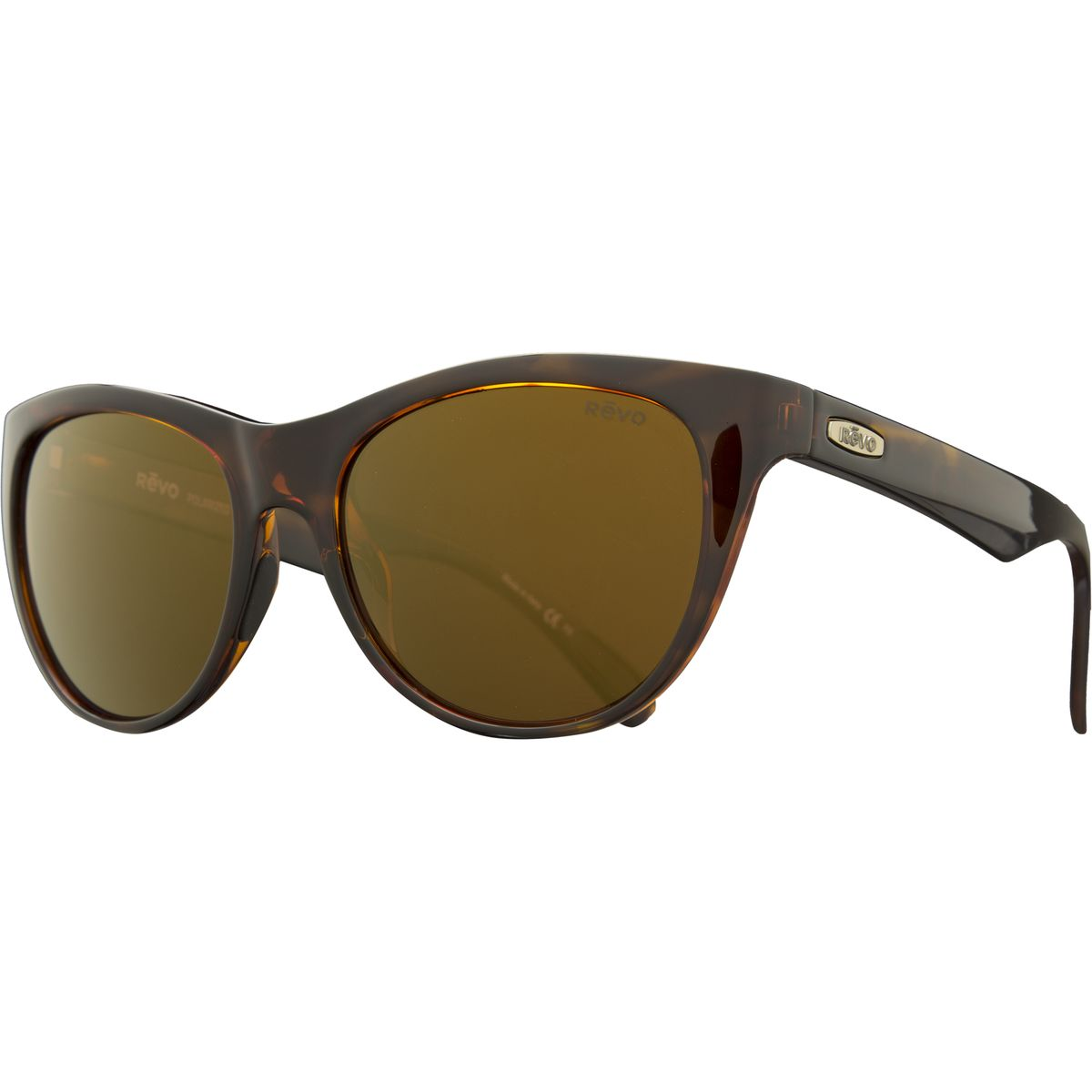 Revo Barclay Polarized Sunglasses  Womens Tortoise Open Road One Size