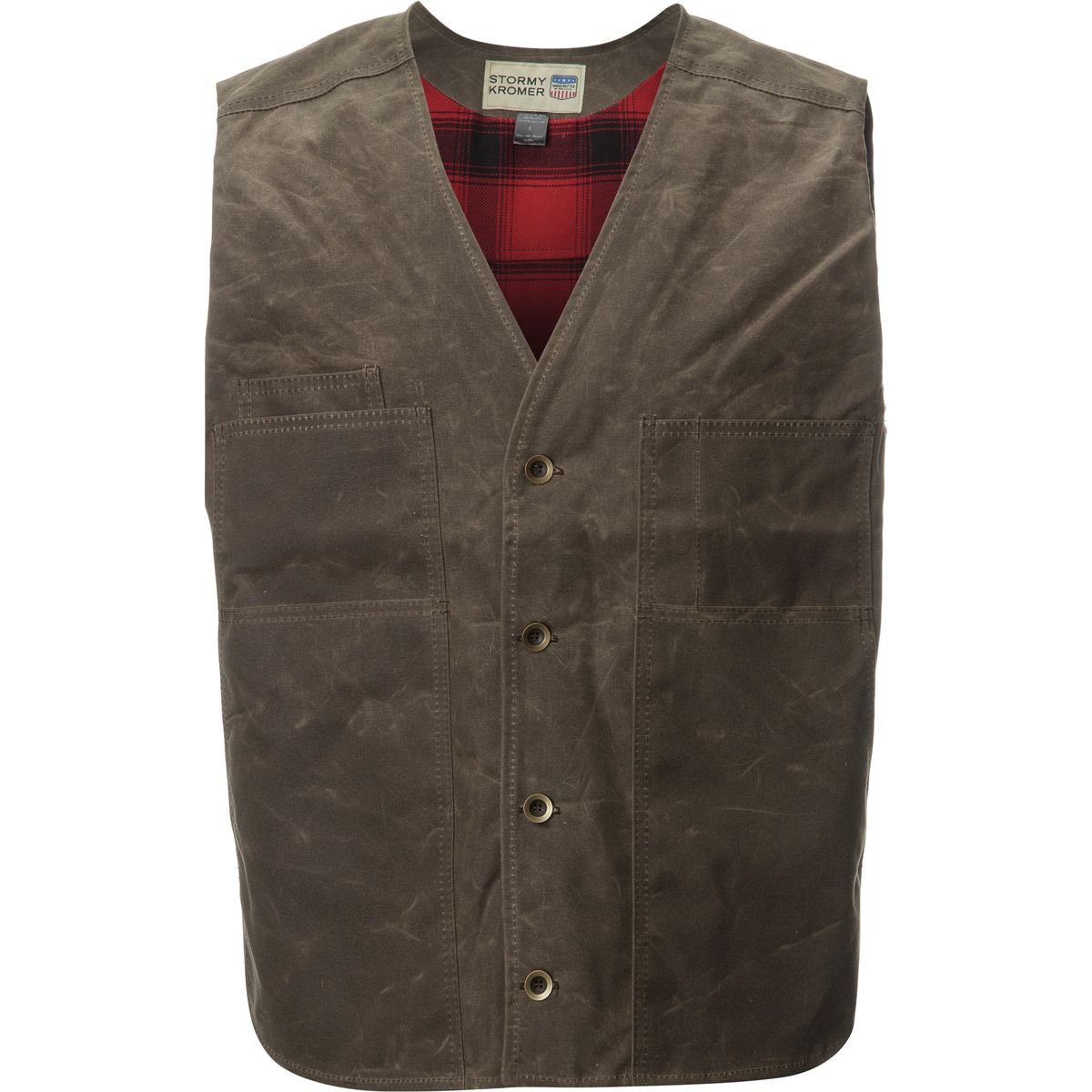Stormy Kromer Mercantile Lined Waxed Button Vest - Men