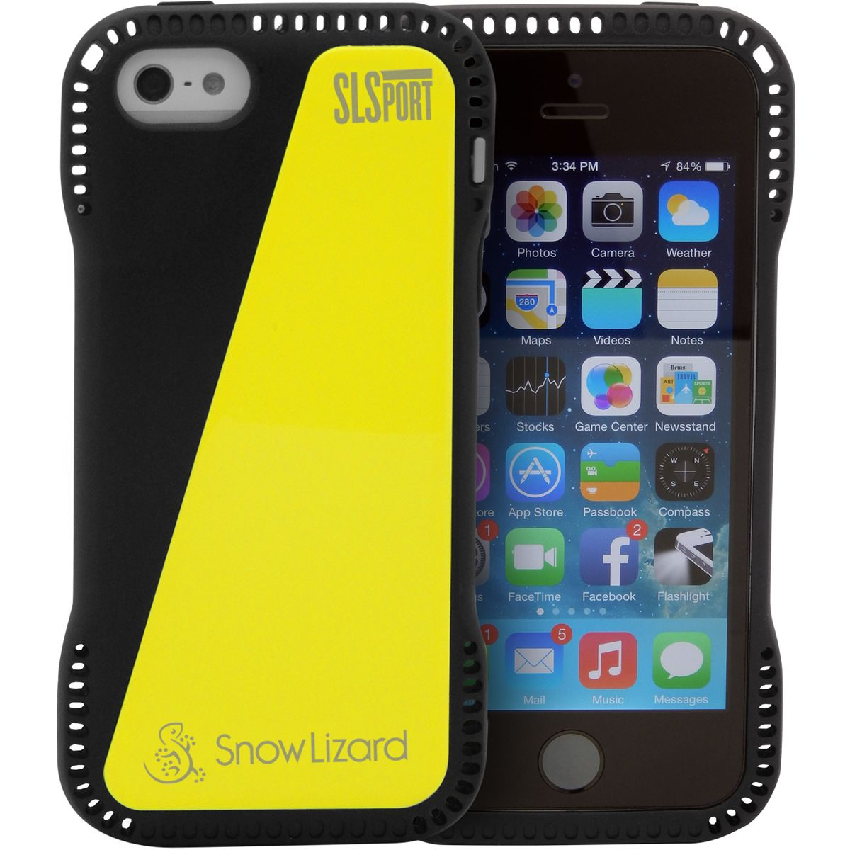 Snow Lizard SLSport iPhone 5 Case Black Yellow One Size