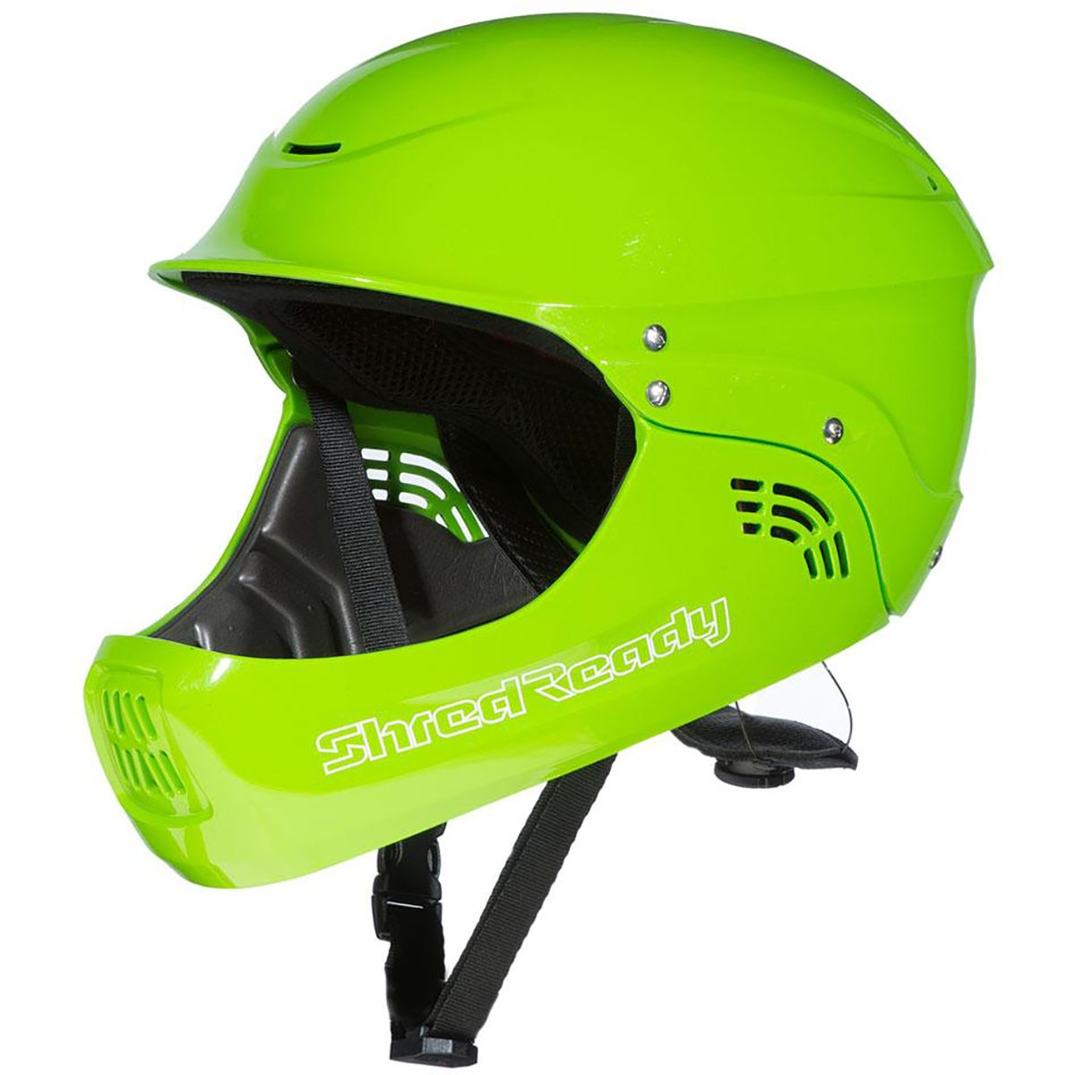 Shred Ready Standard Full-Face Kayak Helmet Flash Green, One Size