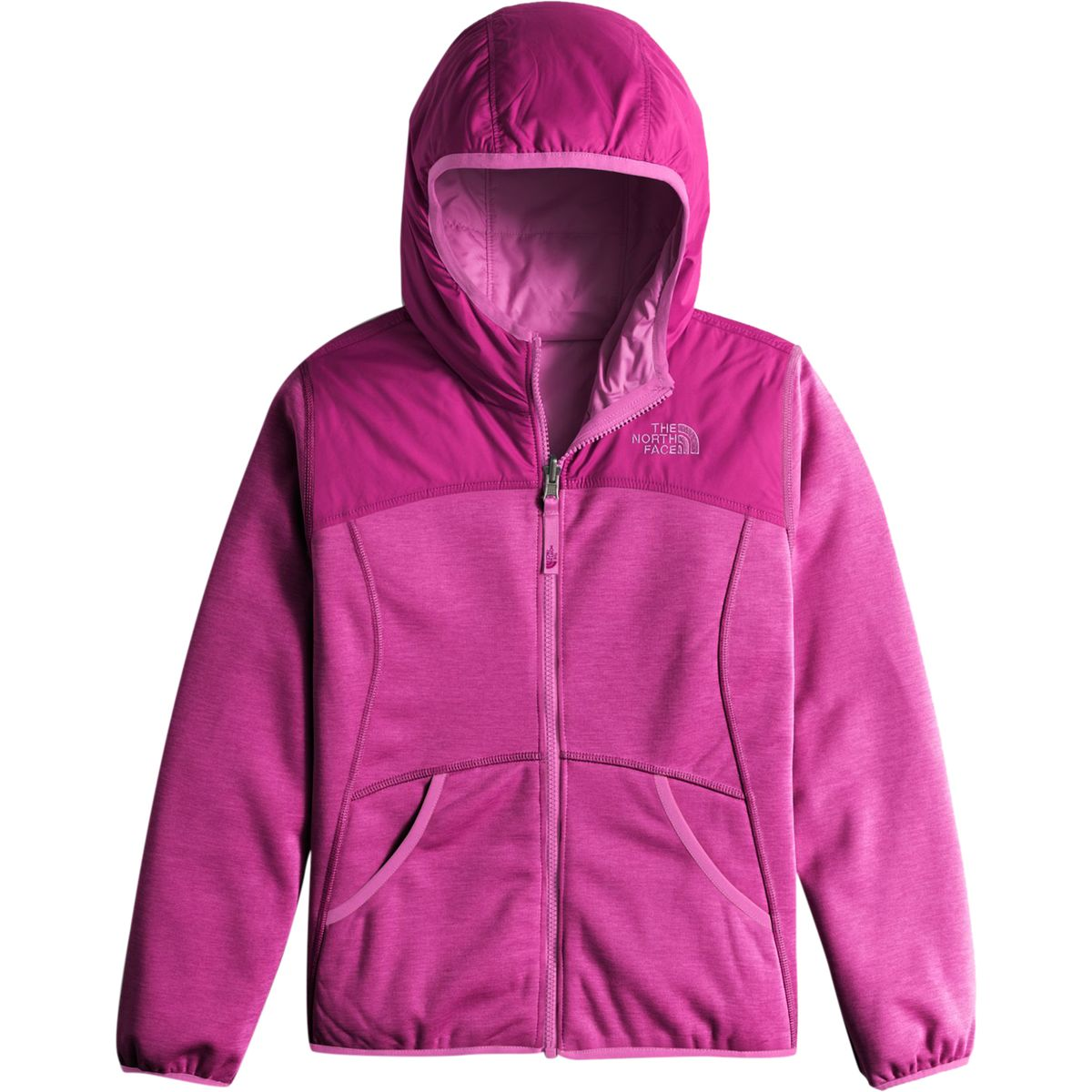 The North Face Haldee Reversible Fleece Hooded Jacket - Girls