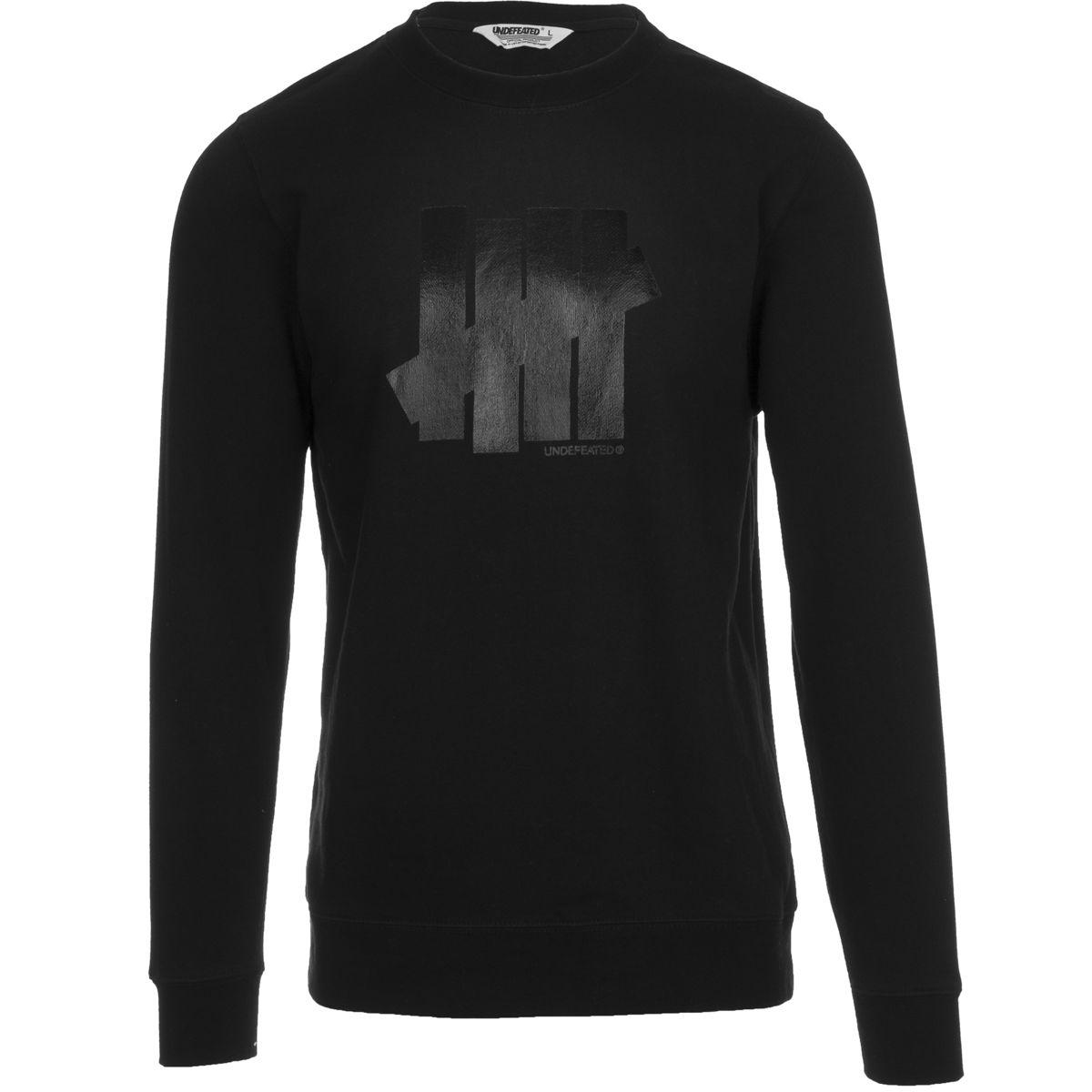 Undefeated 5 Strike Crew Sweatshirt  Mens Black L
