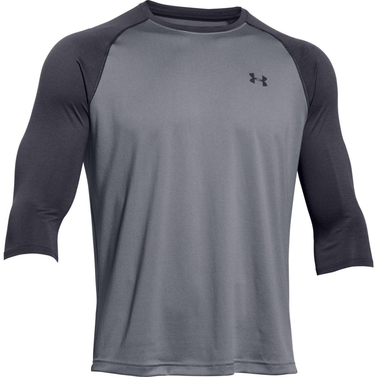 under armour tech raglan t shirt 3 4 sleeve men 39 s ebay
