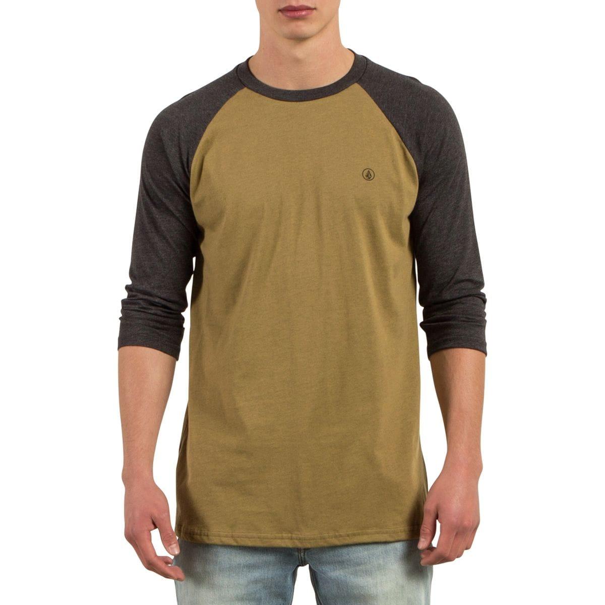 Volcom Solid Heather Raglan T-Shirt - 3/4-Sleeve - Men