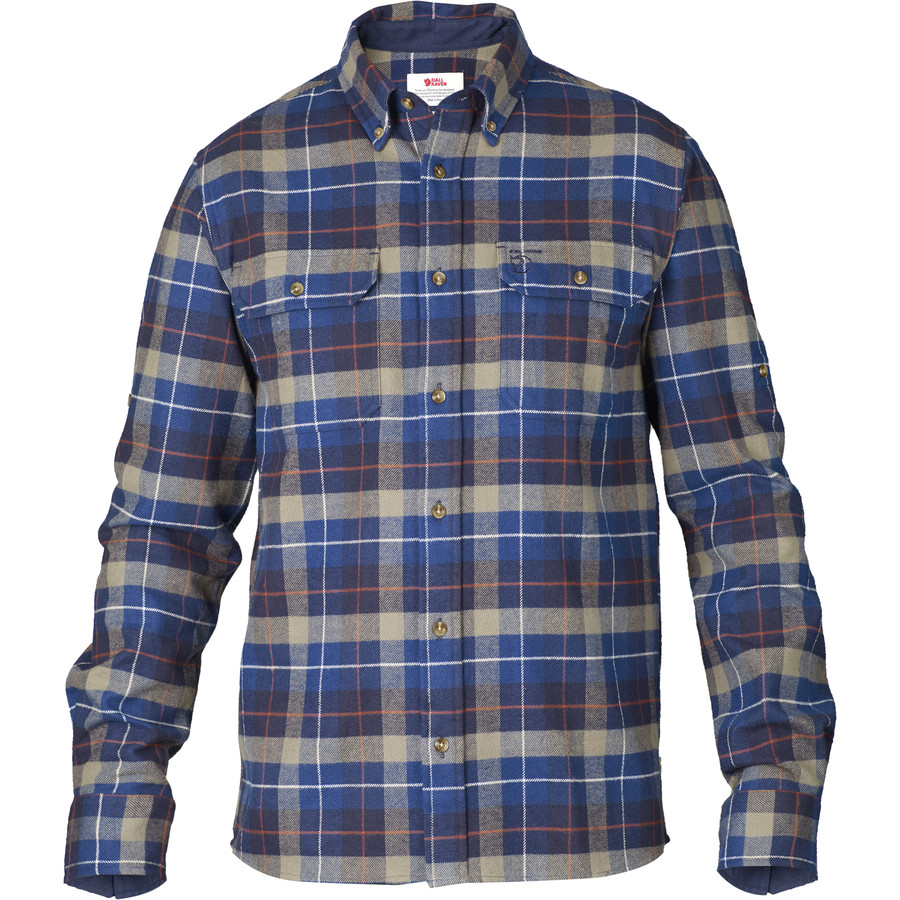 Fjallraven sarek heavy flannel shirt long sleeve men 39 s for Mens long sleeve flannel shirts