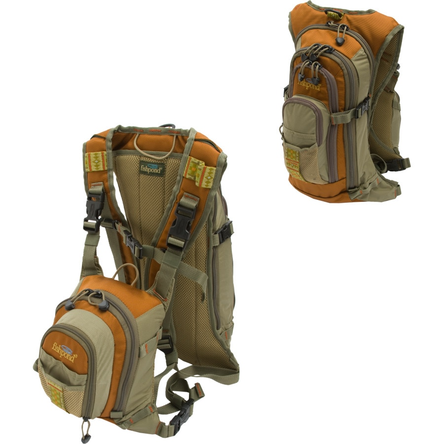 Fishpond double haul fly fishing chest backpack 610cu in for Fly fishing backpack