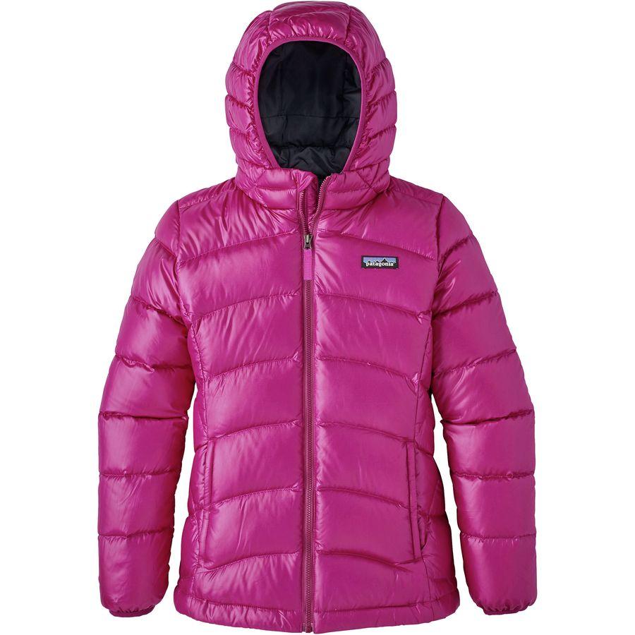 Patagonia Hi Loft Down Sweater Hooded Jacket Girls