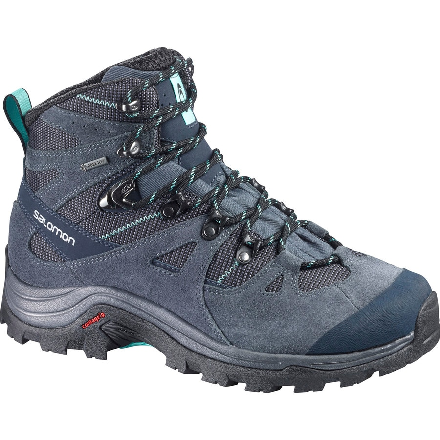 Simple Salomon Womens Discovery GTX Hiking Boots Asphalt Veridian Green Fresh Green 9 And Free Collapsing Waterbottle Bundle  Learn More By Visiting The Image Link Is There A Sloppy, Rugged Trail In Your Future? Then Say Hello To The